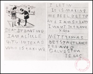 Letter To Banting From Child Who Had Diabetes