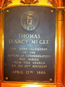 D'ARCY MCGEE plaque