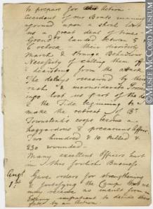 Manuscript, Journal of James Wolfe, Quebec Expedition, 1759