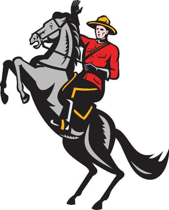North West Mounted Police Drawing Royal Canadian Mounted Police