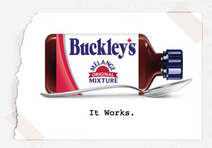 Bottle of Buckley's Cough Syrup