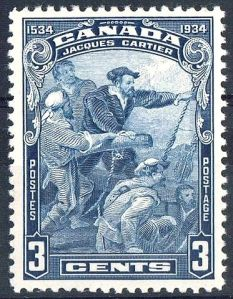 A 1934 stamp honoring Jacques Cartier